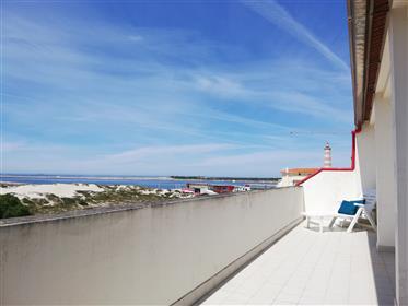Apartamento T3 Duplex primeira linha vista mar Praia da Barra Aveiro
