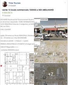 13 Locals Commercials independants 1000M2 A Vendre