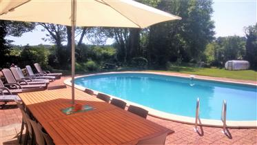 Fabulous Farmhouse with existing Gite Business, heated swimming pool with stunning views