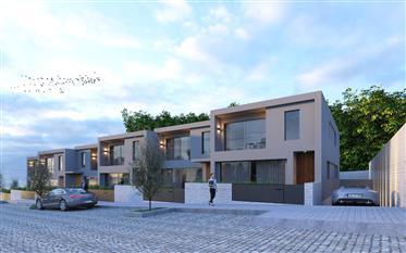 Nouveau quartier de maisons jumelles