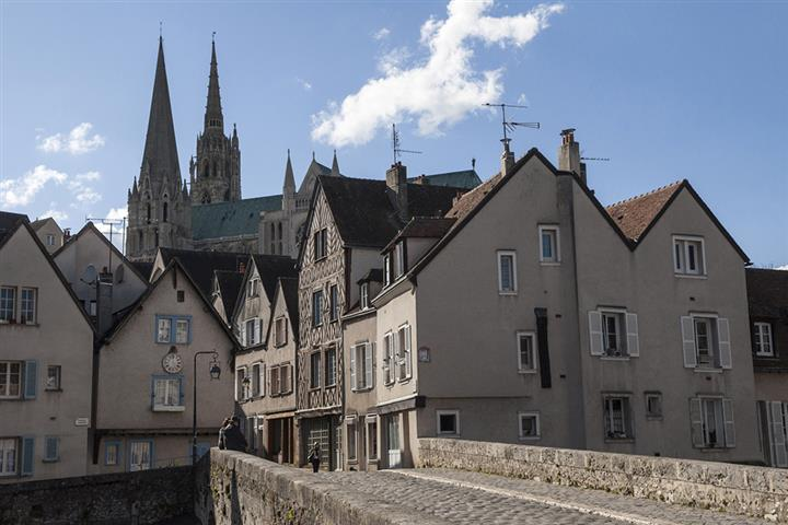 The old town of Chartres, France