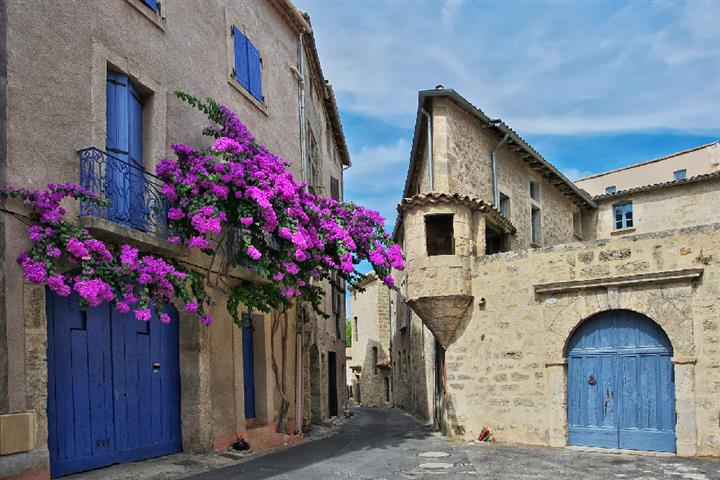 The town of Pézenas, France
