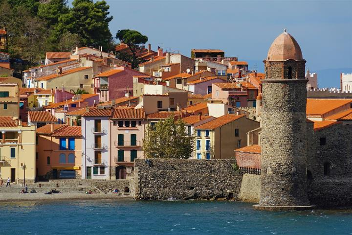 The village of Collioure on the Côte Vermeille, France