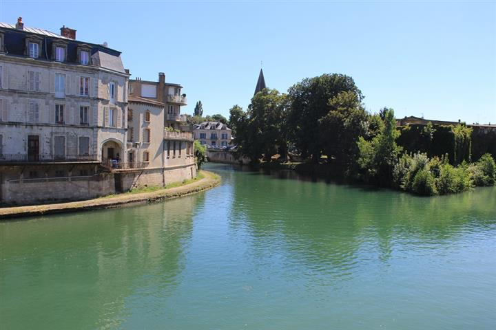 Apartments on the banks of the Meuse river, Verdun