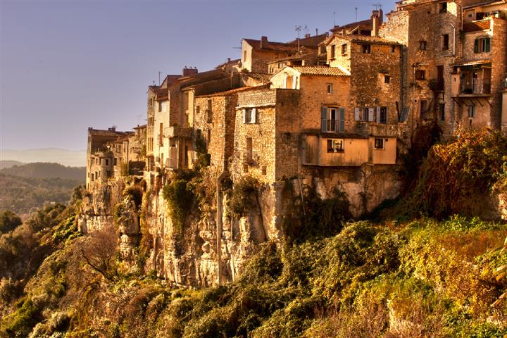 The village of Tourrettes-sur-Loup, Côte d'azur, Alpes-Maritimes