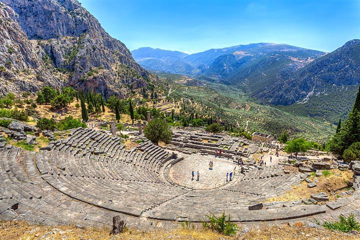 Théatre antique de Delphes, Grèce