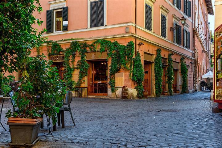Ruelle du Trastevere, à Rome